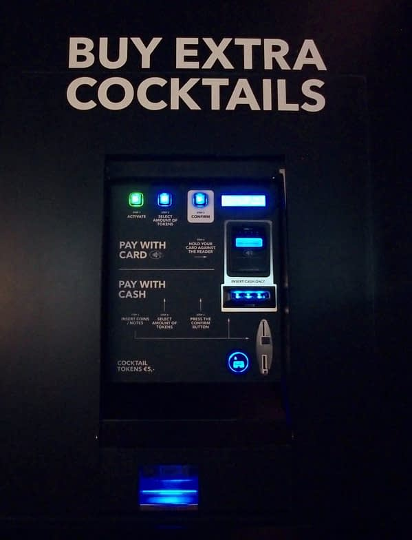 house of bols extra cocktail token machine
