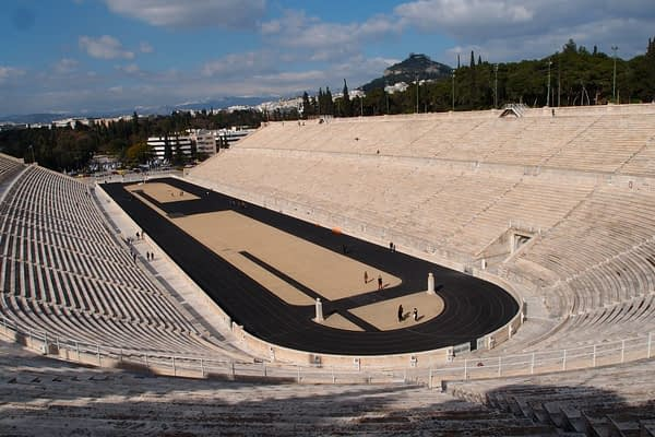 view from the Panathenaic Stadium in Greece