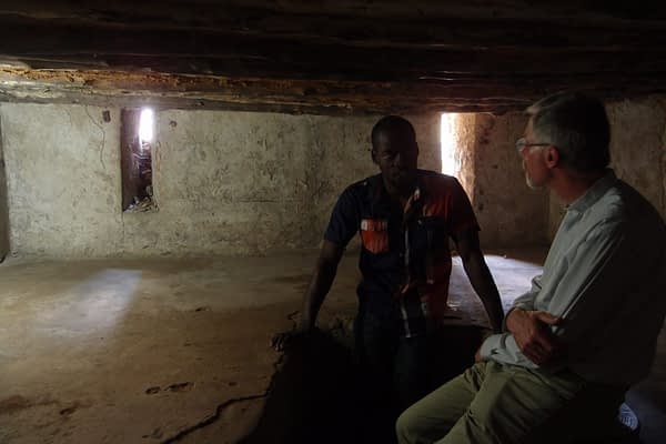 Room where slaves were kept before auction Christ Church stone town
