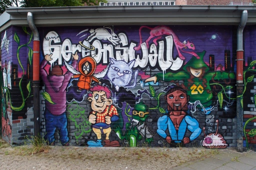 Gereonswall street art in Cologne
