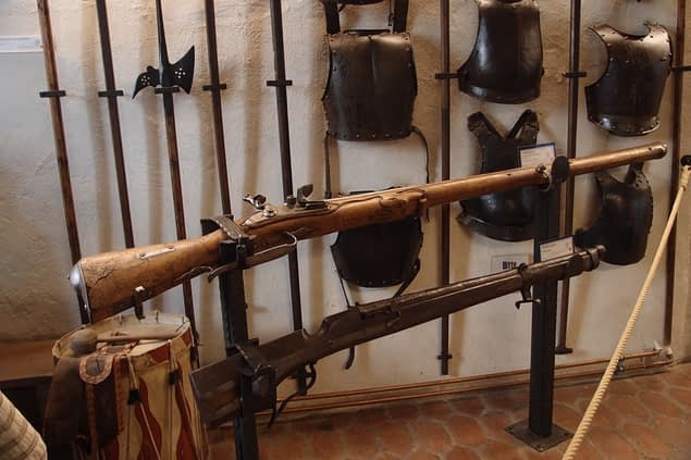 weapons in History Museum with Town Dungeon