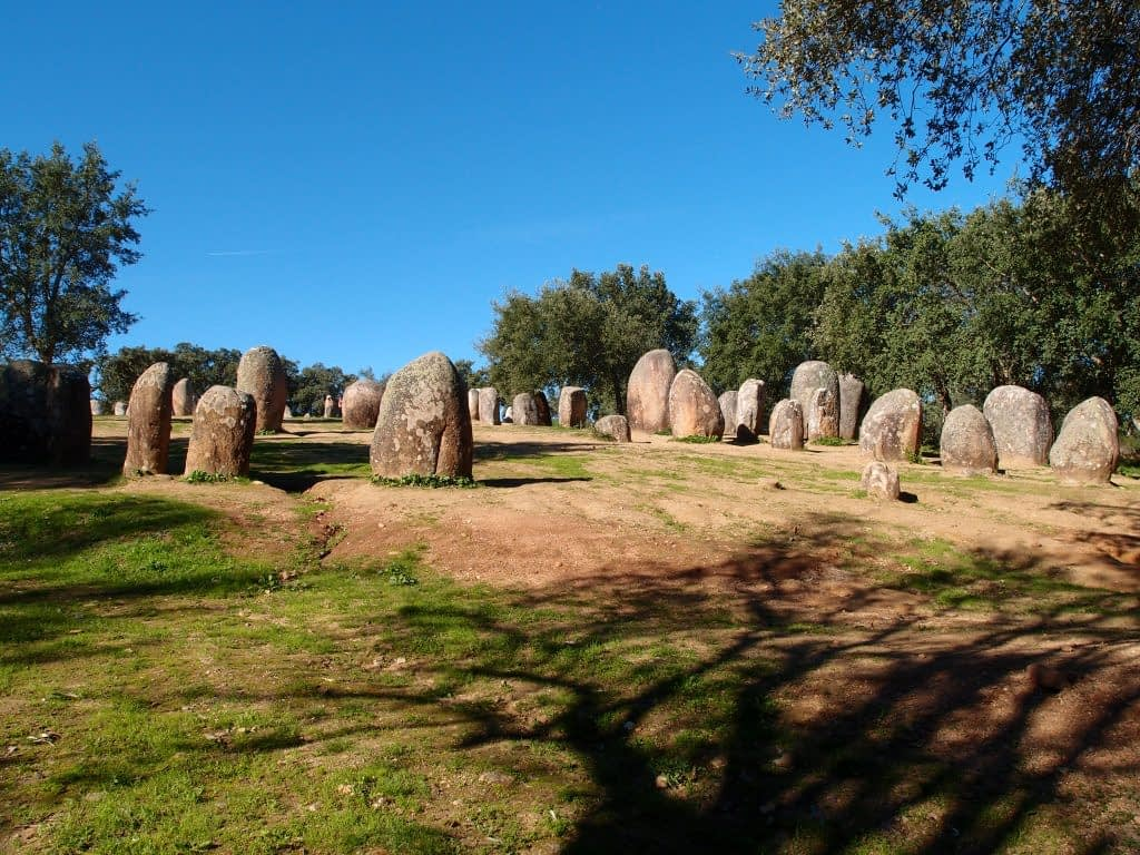 megalith stones at Almendres portugal