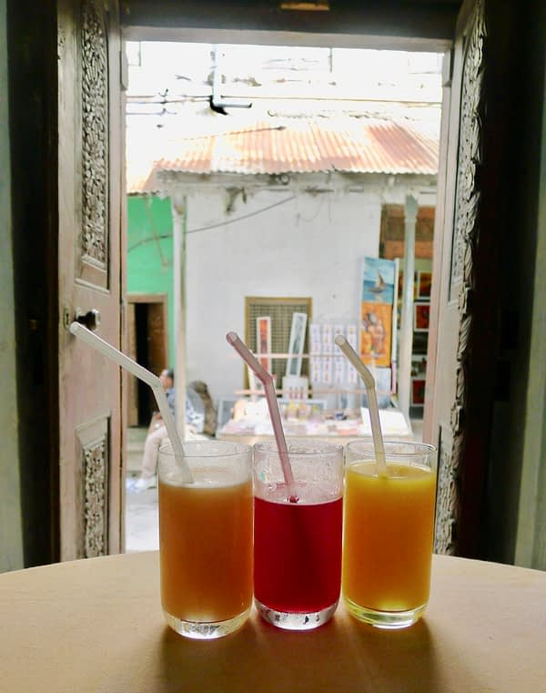 fresh juices in Stone Town
