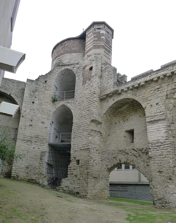 The Aneessens Tower or Tour de l'Angle, inside view, Brussels, Belgium