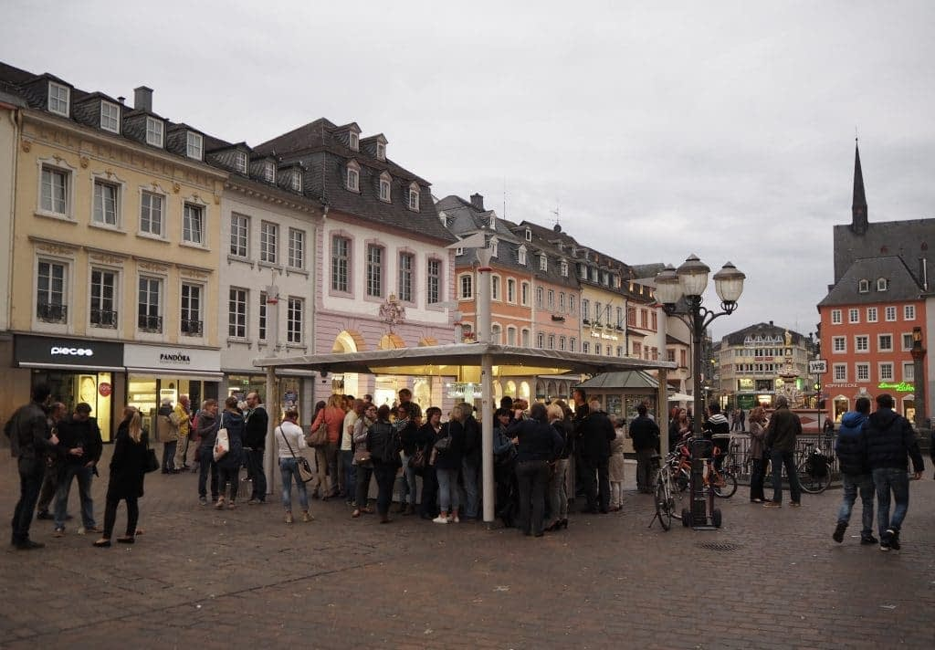 wine stand in Trier