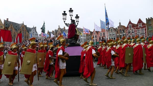 Roman soldiers, Holy Blood Procession, Bruges, Belgium