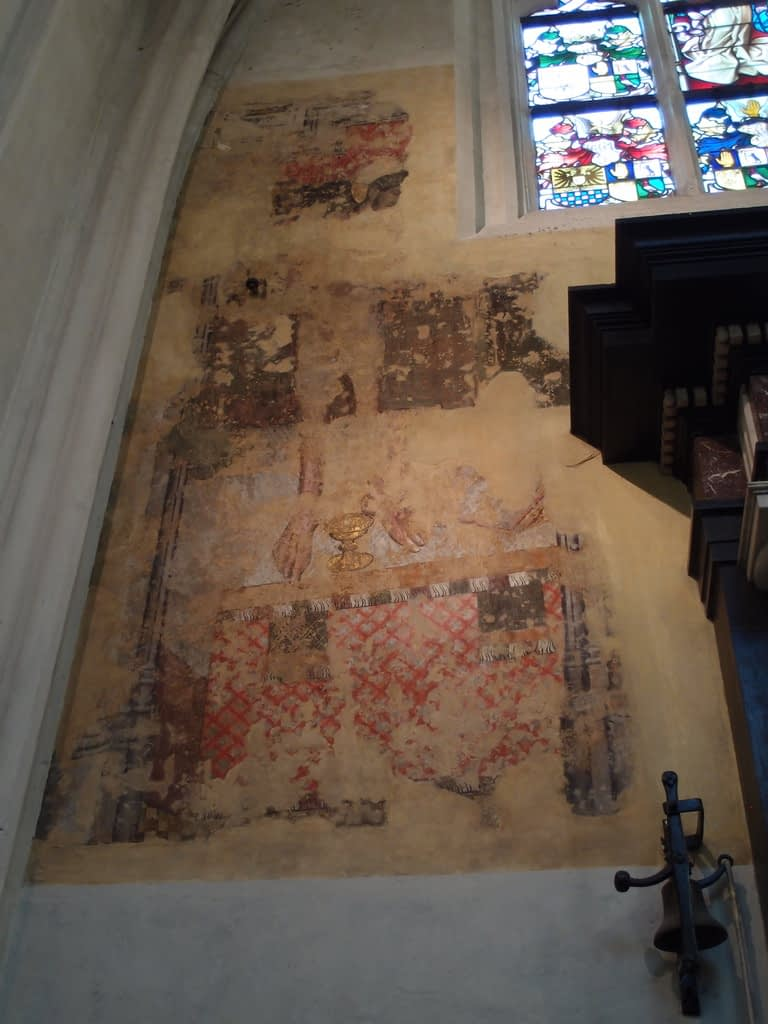 medieval church wall painting