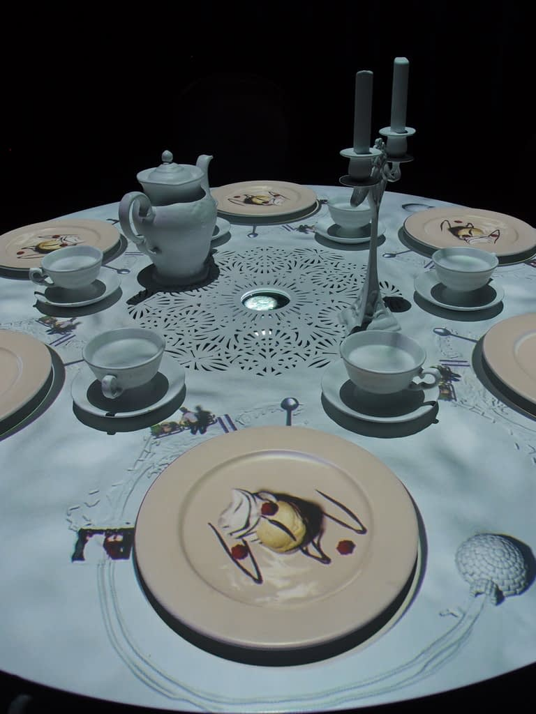 dining table with projections