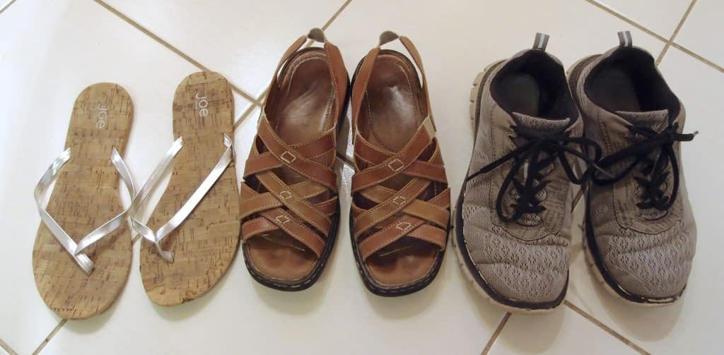 My travel shoe collection