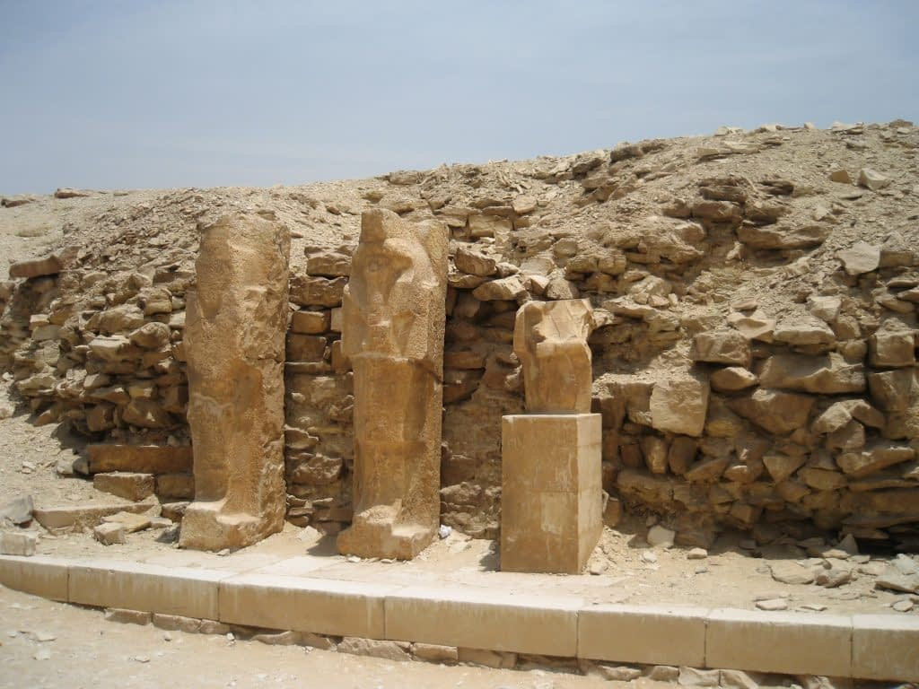 Unfinished statues at Saqqara
