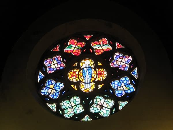 rose window, Church of St Mary and St Finnan Scotland