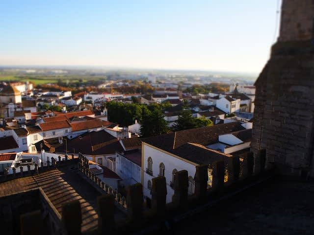 view from Cathedral of Evora's rooftop
