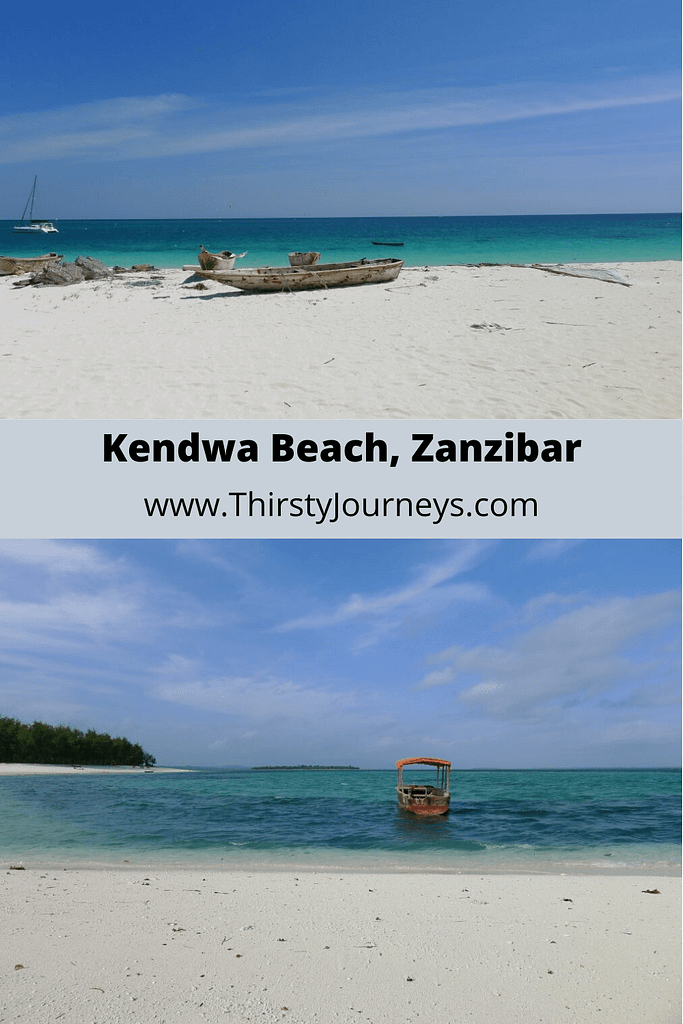 kendwa beach with boats