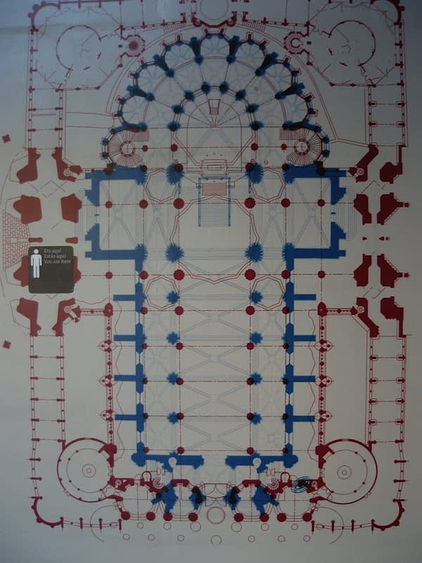 interior blueprint of Sagrada Familia