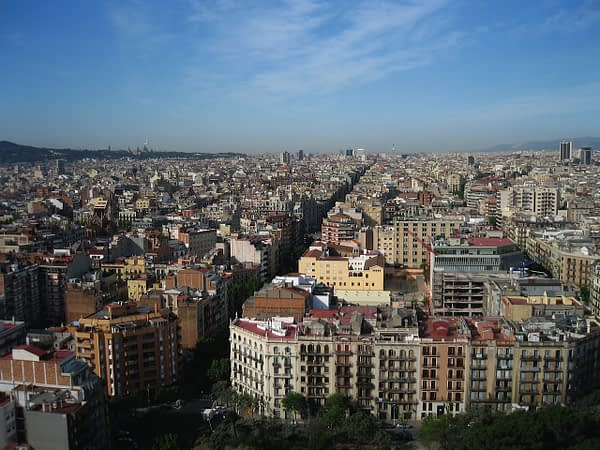 Barcelona from Sagrada Familia tower