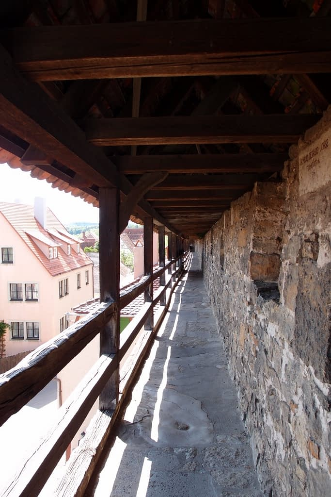 Medieval city walls, Rothenburg