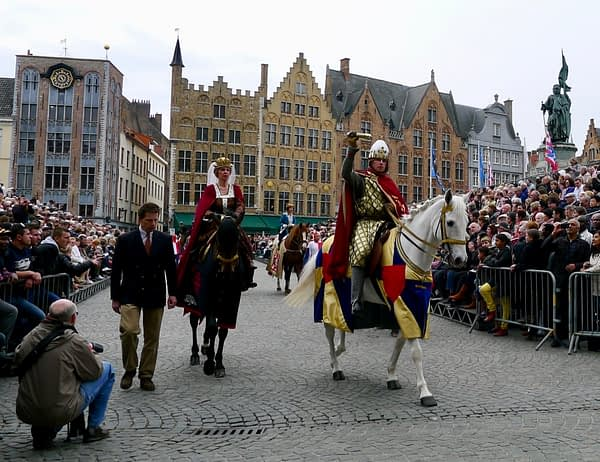 Thierry d'Alsace, procession of the holy blood, Bruges, Belgium