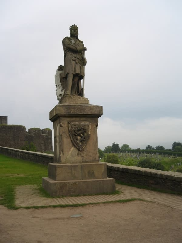 Statue of Robert the Bruce at Stirling Castle