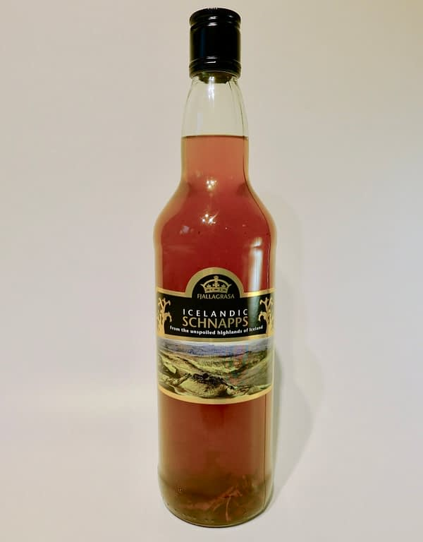 Fjallagrasa Icelandic Schnapps bottle