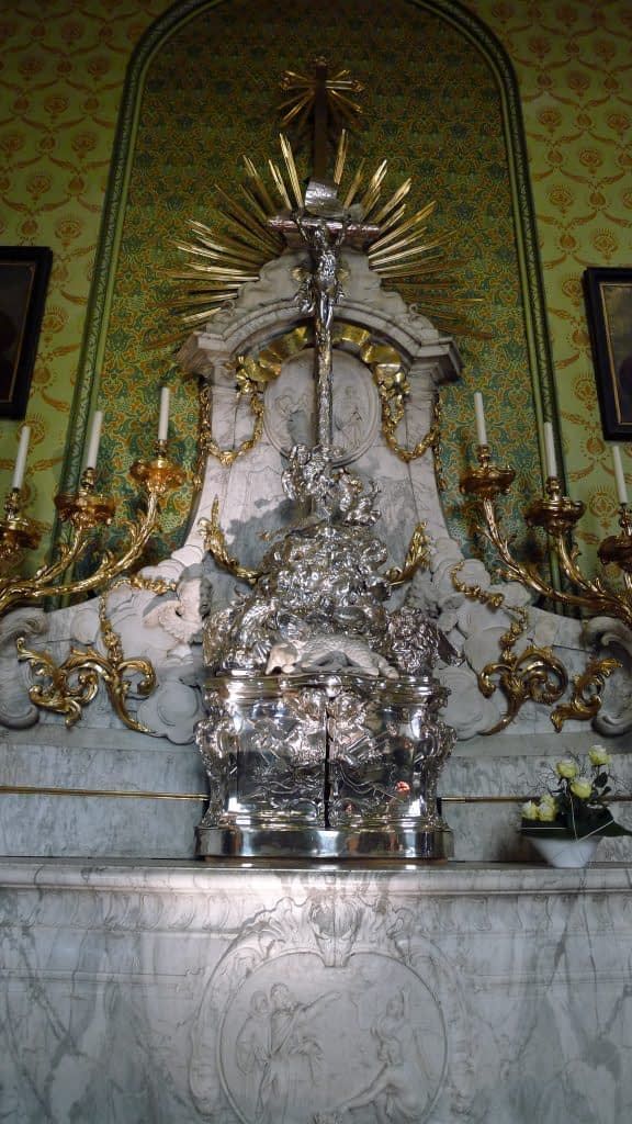 White marble tabernacle, Basiica of the Holy Blood, Belgium