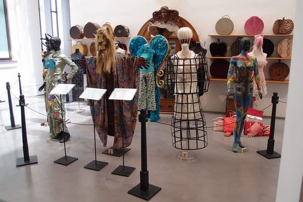 Dress collection at the Automobile and Fashion museum
