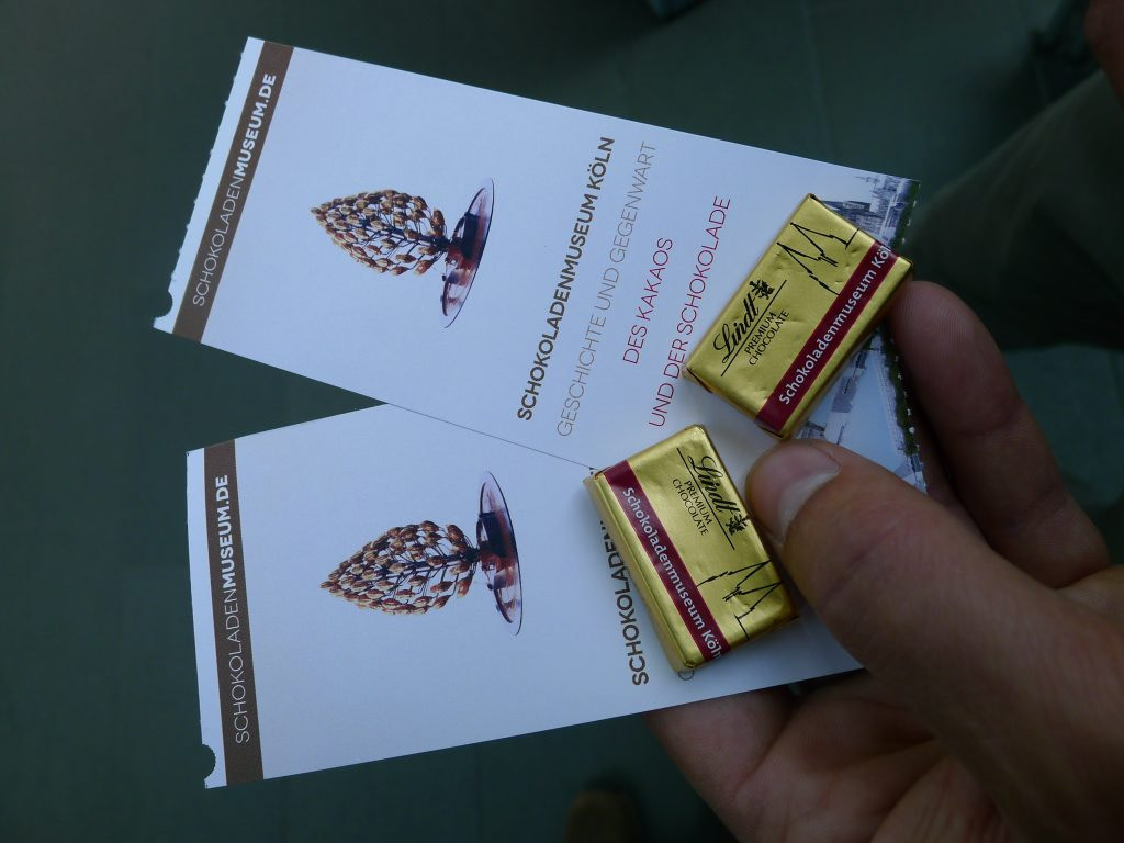Lindt Chocolate museum tickets with chocolate sample