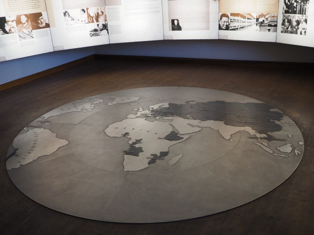 Communism map on floor, Karl Marx House