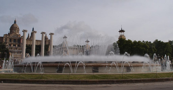 Montjuic Park Magic Fountain, Barcelona Spain