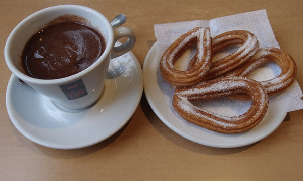 Chocolate and churros, Spain
