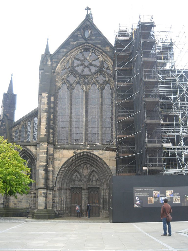 Glasgow cathedral scaffolding
