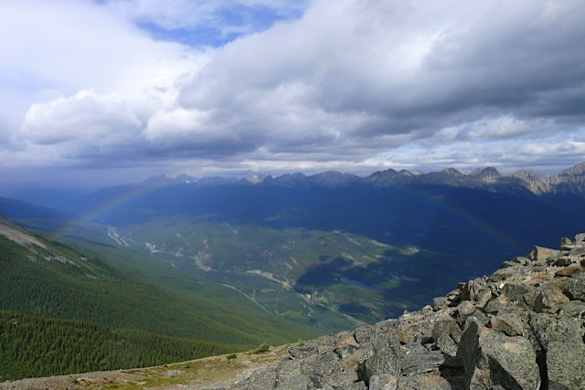 Rainbow on Whistlers Mountain, Jasper