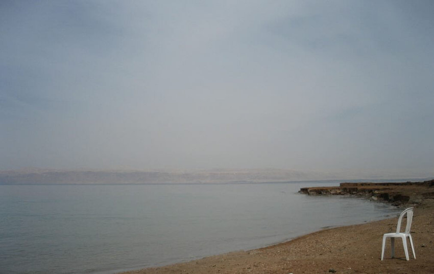 The Dead Sea with lonely chair